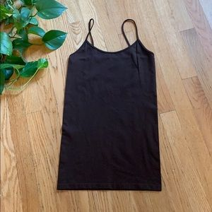One size fits most tank top brown